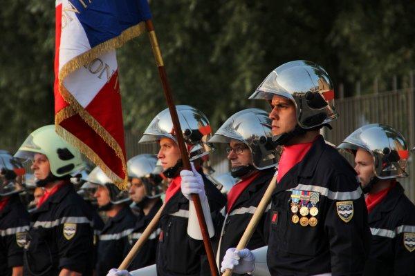 Sdis 45  -2013: Cérémonie du 14 Juillet Montargis.