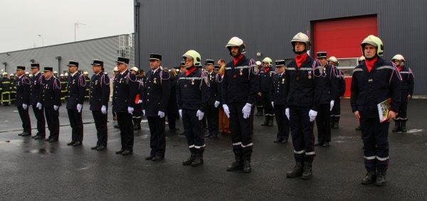 Sdis 45 - 2017: Ste Barbe Dépt / Inauguration du Nouveau Cs de Meung sur Loire.