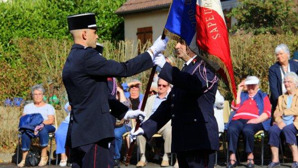 Sdis 45 - 2019: Passation de commandement Cs Ouzouer sur Loire.