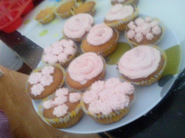Cupcake ganache pasteel