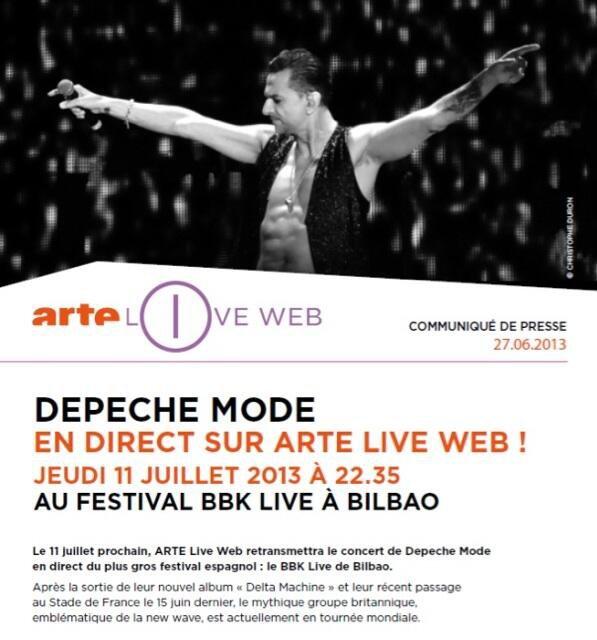 Depeche Mode : concert en direct le 11 juillet