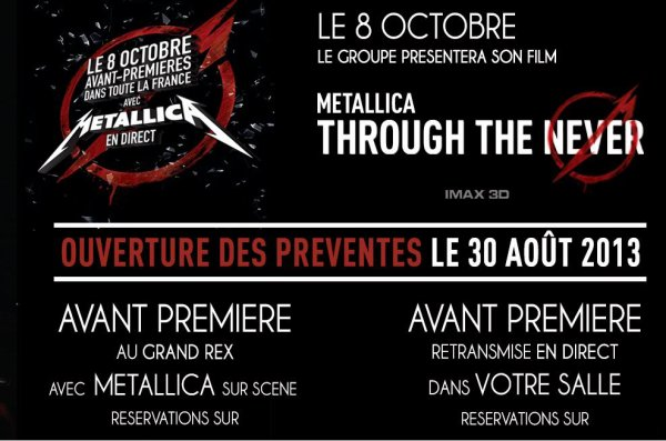 Metallica, avant première en présence du groupe