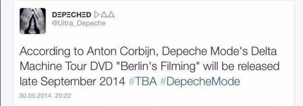 Yeah Baby Yeahh, DVD Depeche Mode, des news