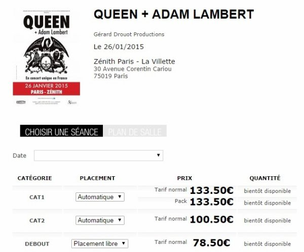 Queen et Adam Lambert en France