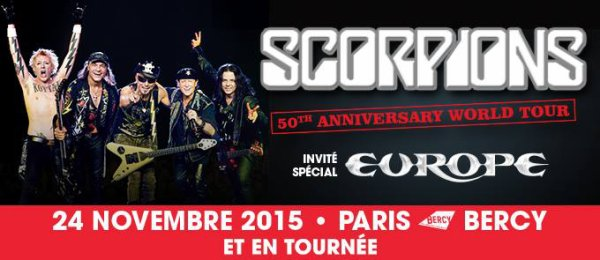 Scorpions en tournée avec Europe en vente NOW !