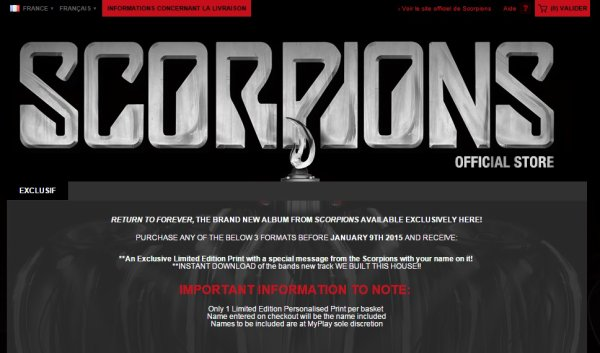 Scorpions, édition très très limitée