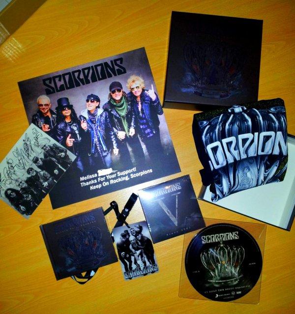 Le coffret du nouveau Scorpions en photos