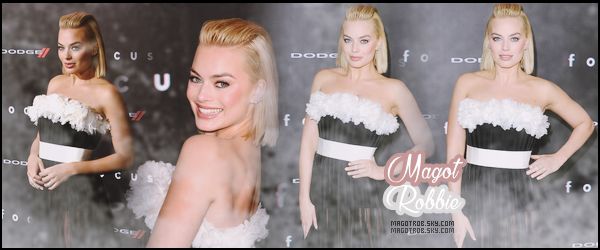 ● ● Bienvenue sur ta nouvelle source d'actu' sur la magnifique Margot Robbie !  Grâce a ce blog source tu pourras suivre le quotidien de l'actrice Margot Robbie à travers divers articles, candids, photoshoots...