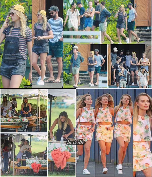 - 09/05/17 : Notre Margot a été photographiée dans les rues de Kauai avec des ami(e)s à elle (HA). La veille, elle était à une réception à des ami(e)s puis dans les rues d'Hawaii. Les tenues sont plutôt pas mal mais sans plus. -