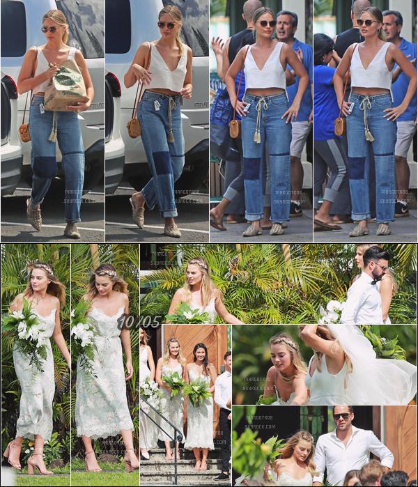 - 11/05/17 : Margot Robbie était de sortie pour faire des courses, elle était seule, Hawaii (US). La veille,elle était le témoin du mariage de sa cousine, toujours dans l'île. Encore 2 beaux tops, j'aime beaucoup. -