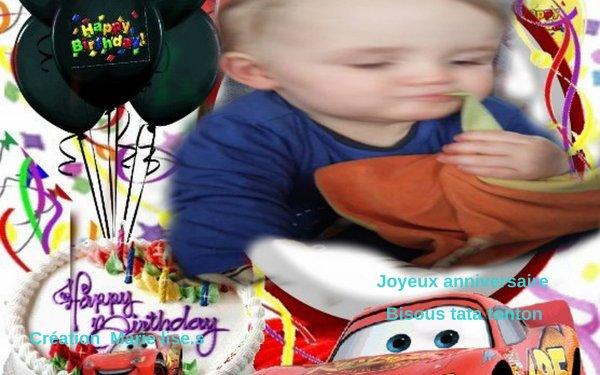 joyeux anniversaire Adrien pour tes 1 ans gros bisous tata tonton