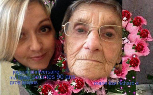 joyeux anniversaire ma tante pour tes 90 ans gros bisous