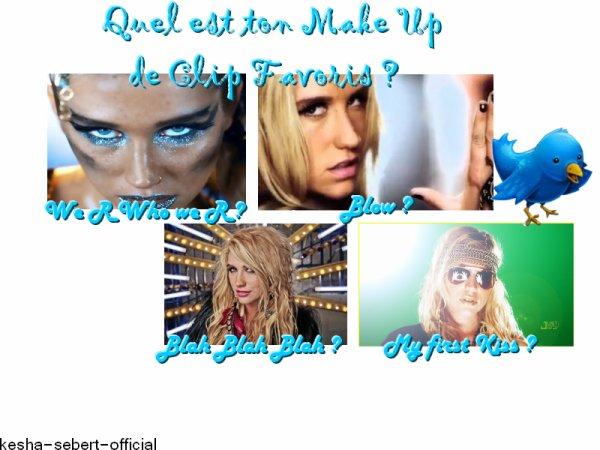 Vue sur le maquillages des clips de ke$ha