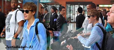 Justin a l'aeroport d'Osaka
