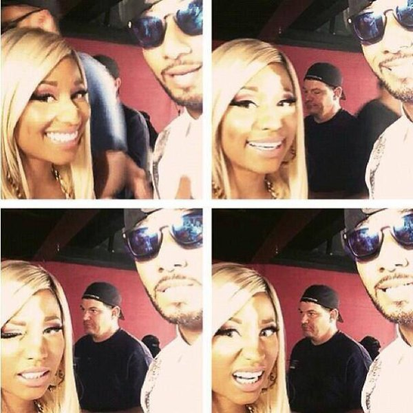 Nicki, Swizz Beatz and Busta Rhymes !!