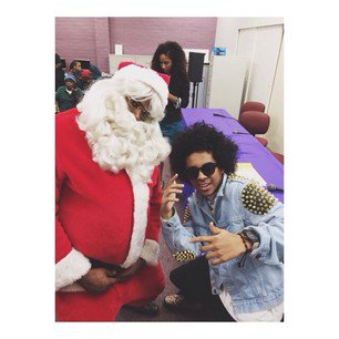 Princeton And Father Christmas !!