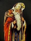 6 décembre: ST NICOLAS ; du grec VICTOIRE et LAOS  : peuple; Bonne fête aux NICOLAS,   NICOLE,COLAS,COLIN,NILS,NICOLETTE. St NICOLAS évêque d'ASIE, serait mort le 6 décembre 343; il a consacré sa vie à  soigner la misère du corps et de l'esprit;. ses reliques furent rameneés  d'ITALIE en 1087; plusieurs légendes évoque ST-Nicolas, dont celle du boucher qui aurait découpé et salé  trois petits garçons.de sa crosse il les ressuscita ; il arracha aussi à la tempête des hommes et un prisonnier. voir çi dessus encore.