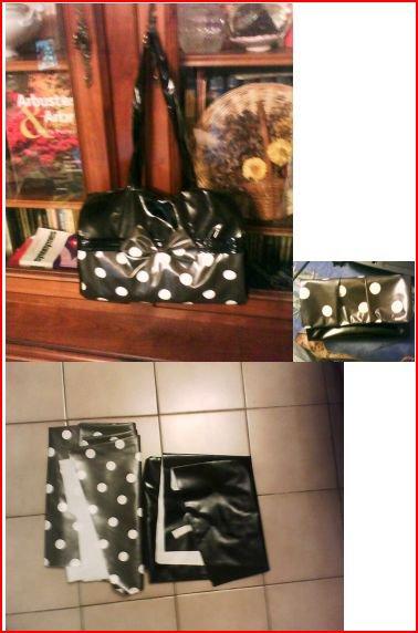 J'ai créé un sac en toile cirée avec son porte-monnaie assorti