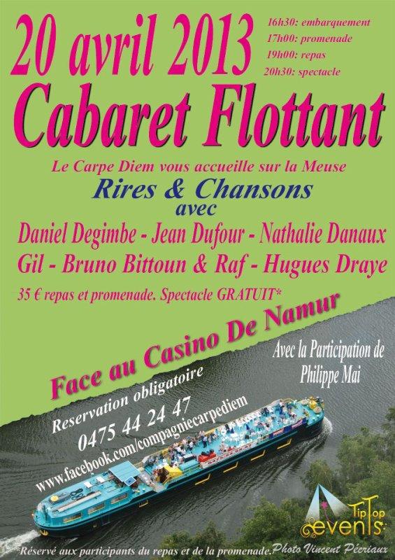 Cabaret flottant du 20 avril 2013 à Namur