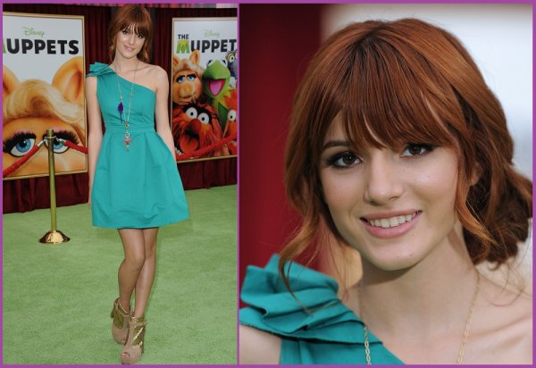 "12/11/11: Bella Thorne à la premiere de ""The Muppets"" au El Capitan Theatre à Hollywood, L.A."
