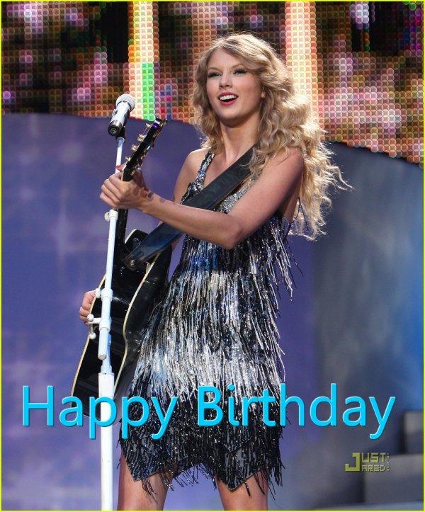 Happy Birthday à Taylor Swift qui fête ses 22 ans en ce 13 Décembre 2011!!!