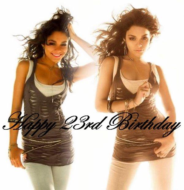 Happy Birthday à Vanessa Hudgens qui fête ses 23 ans en ce 14 décembre 2011
