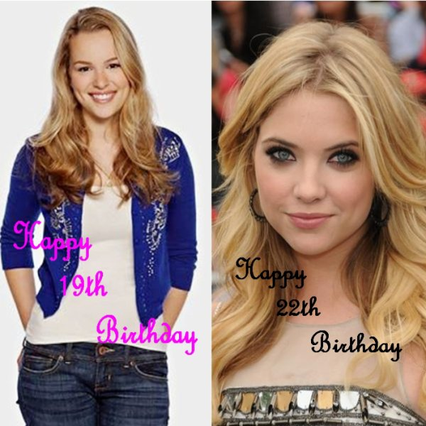 Happy Birthday à Bridgit Mendler et à Ashley Benson!