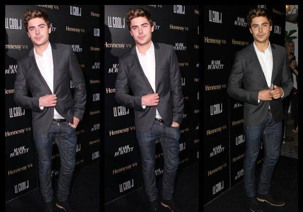 Le 11 février 2012, Zac a assisté à la fête de LL Cool J pour les Grammys qui se déroulait à Beverly Hills. C'est un top pour sa tenue