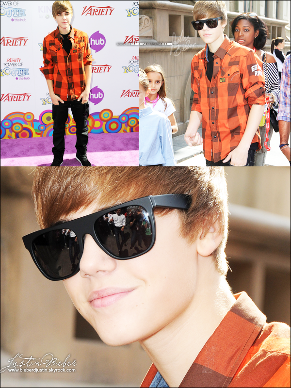 Justin le 24 octobre à Variety's 4th Annual Power Of Youth Event, j'adore ces photos. J'aime trop sa chemise.