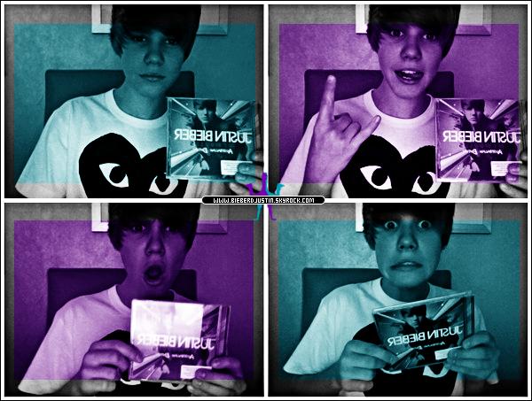 En Australie, l'édition australienne de « My Worlds » est officiellement sorti. J'ai eu la première copie! » Justin Bieber