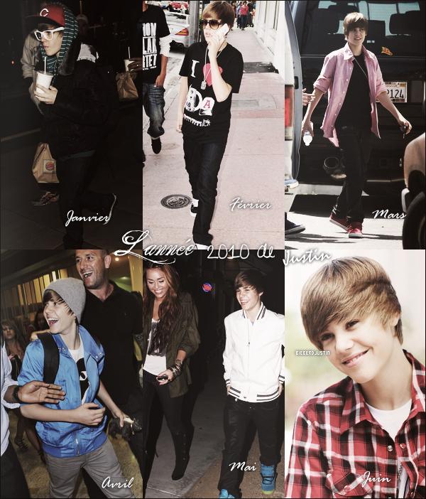 Durant l'année 2010, Justin a put nous montrer beaucoup de ses tenues, et nous pouvons remarquer que notre Justin est un gars très stylé, en effet on peut regarder tous les tops  qu'il nous a fait au fil des mois.