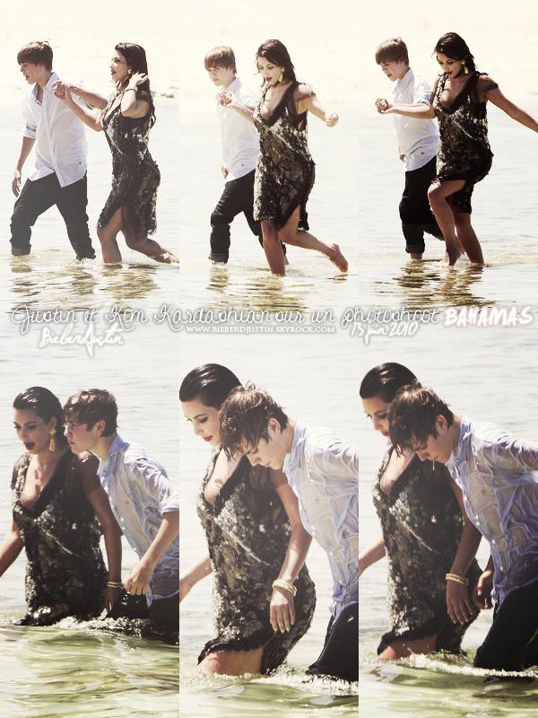 Justin a été photographié réalisant un photoshoot en compagnie de la jolie Kim Kardashian aux Bahamas 13/06.