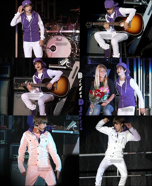 Toujours de passage en Californie, Justin a donné le 21 juillet un concert à Paso Robles.