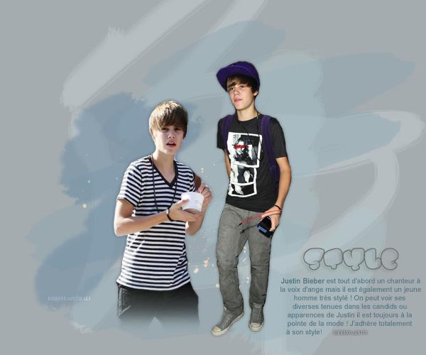 Justin Bieber, le mec le plus stylé ! création