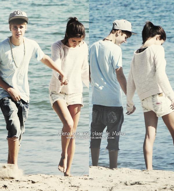 _NEW, CANDIDS_  Jelena ne se quittent plus, en effet, ils ont été vue sur une plage de Malibu en Californie, ce 23/09.