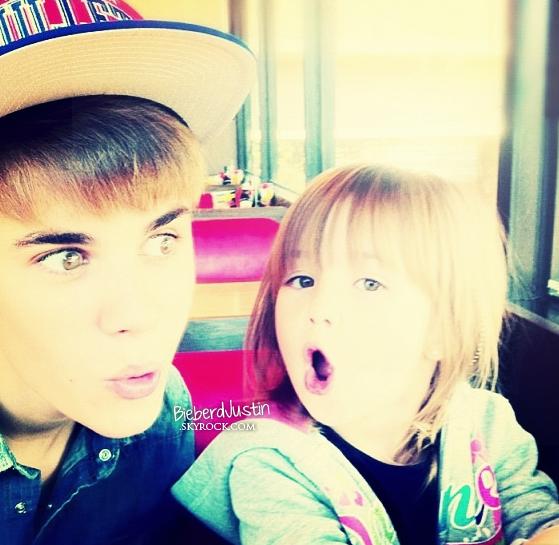 TWITTER - Justin a posté une nouvelle photo de lui et de sa petite soeur, Jazmyn sur son compte twitter. So cute !
