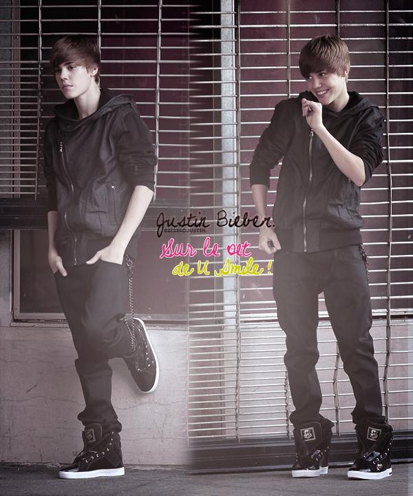 C'est un sublime Justin que l'on peut voir sur le set de U Smile ! création