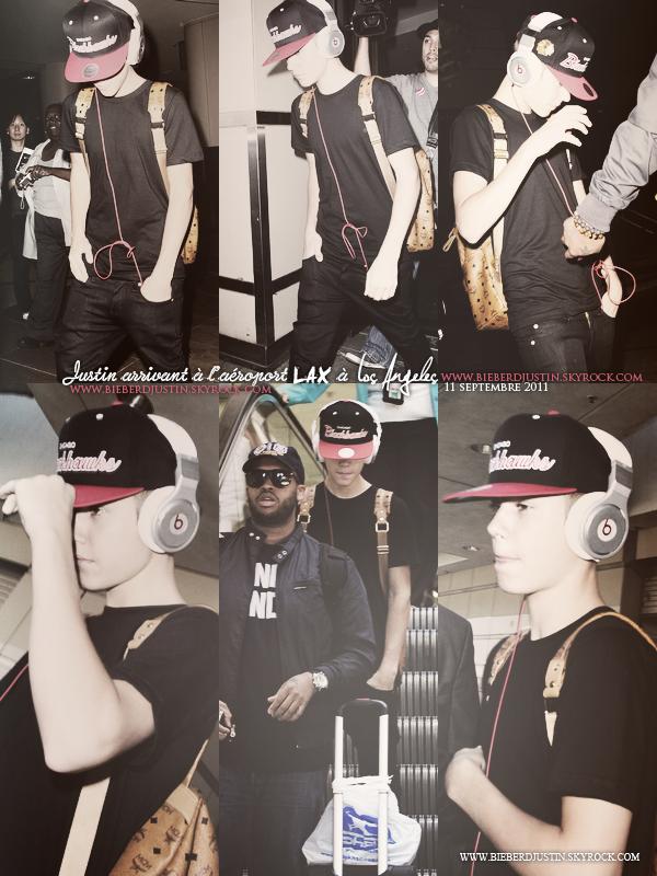 _NEW, CANDIDS_ J. a été photographié à l'aéroport LAX à LA, le 11/09. TOP, j'aime sa tenue ainsi que sa casquette.
