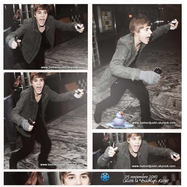 Découvre les photos de Justin datant du 25 et du 26 novembre 2010.