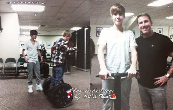 Photos récentes de Justin dans les backstage du My World Tour