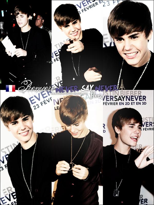 Toutes les photos du passage de Justin à Paris, sortant des studios NRJ,Première de son film,départ à l'aéroport de Roissy