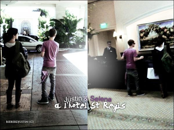 Justin et Selena à l'hôtel St Regis à Dana Point le 27 février.      150ème article