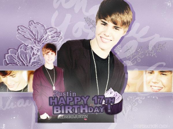 1st March Happy Birthday JB - 17 years - Merci à KristeStewart pour la création \\ Création inspiré de CyrusMileyNews