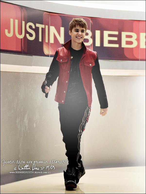 // NEW  -  Justin dans l'émission allemande Wetten Dass, le 19 mars dernier. \\ TOP, BOF ou FLOP, donne moi ton avis !