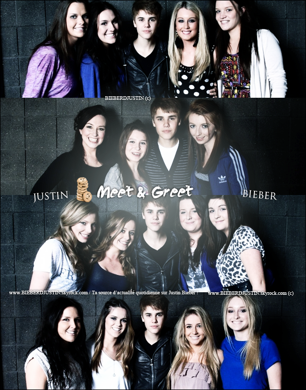Voici des photos, d'un photocall de Justin et également les photos du Meet and Greet.