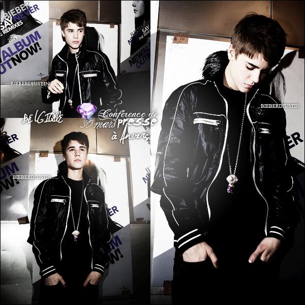 // Justin s'est rendu hier, 30 mars à une conférence de presse à Anvers en Belgique avant de faire son concert. \\