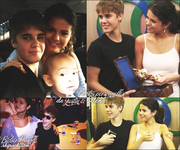 Photos personnelles de Justin en compagnie de Selena Gomez