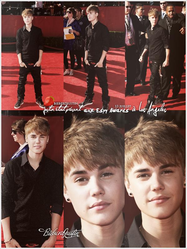 // Event, Justin a été photographié sur le tapis rouge des Espy Awards à Los Angeles, le 13 juillet dernier. TOP ou FLOP ?