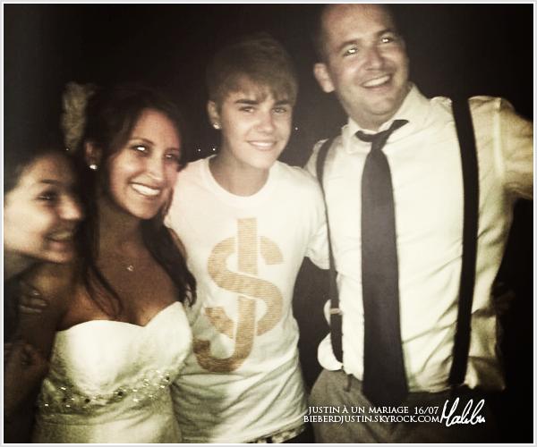 Découvrez une photo de Justin lors d'un mariage à Malibu le 16 juillet dernier. TOP, mais il aurait put faire mieux !