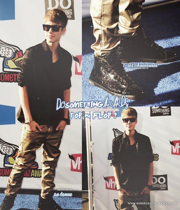 Justin était ce dimanche 14 août présent à la cérémonie des Do Something Awards à Hollywood en Californie.